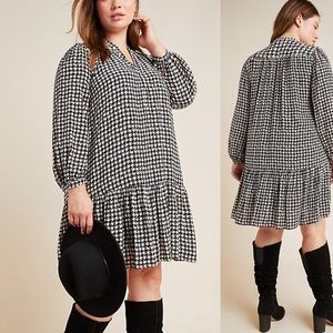 Anthropologie Maeve Sterling Houndstooth Tunic
